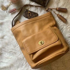Coach archival legacy bucket bag